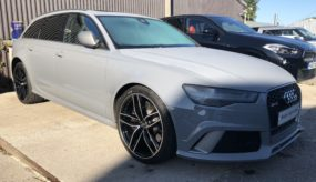 Audi RS6 – After Colour Change and Diamond Cutting