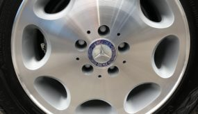 After: Mercedes wheel with diamond cut face