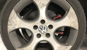 Before: VW Golf Gti wheel prior to refurbishment